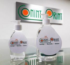 Folyékony pumpás kézfertőtlenítő egyedi cégesítéssel 500 ml