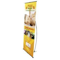 L Banner állvány 85x205cm