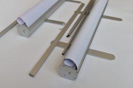 Bemutatótermi Roll Up 85 cm széles szerkezet
