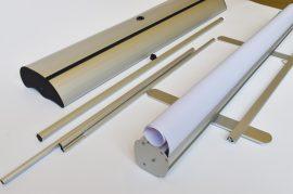 Bemutatótermi Roll Up 100 cm széles szerkezet